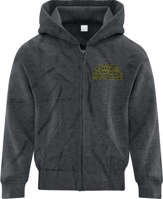 Star Wars BSW Boy's The Force Is Strong With This One Zip Hoodie XL Drk Hthr