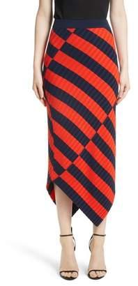 Altuzarra Asymmetrical Stripe Midi Skirt