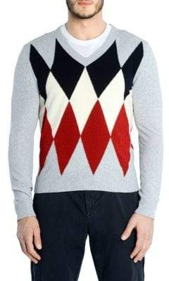 Eleventy Diamond V-Neck Sweater