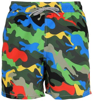 Gustavia Colormetic Camo Swim Shorts $107 thestylecure.com