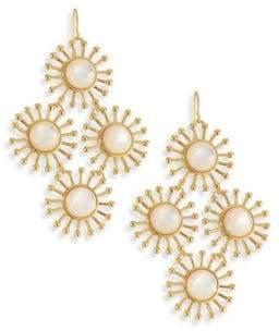 Nest Starburst Mother-Of-Pearl Chandelier Earrings