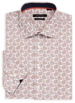 Contemporary-Fit Floral Paisley Cotton Dress Shirt