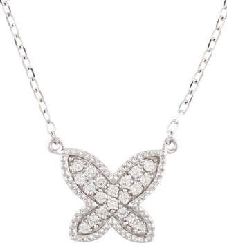 14K Diamond Butterfly Pendant Necklace