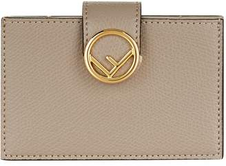Fendi Leather Gusseted Card Holder