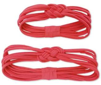 Tiny Treasures 2 Piece Set Family Headbands Mommy And Me Pink Knots Pink $9.99 thestylecure.com