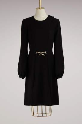 Lanvin Cygne Belt Dress