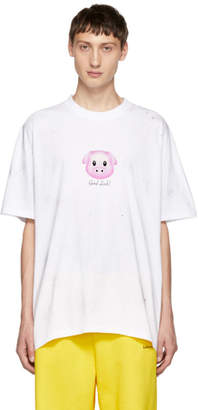 Vetements White Lucky Pig T-Shirt