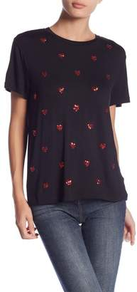 Romeo & Juliet Couture Sequin Heart Print T-Shirt