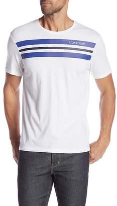 Calvin Klein Stripe Logo Crew Neck Tee