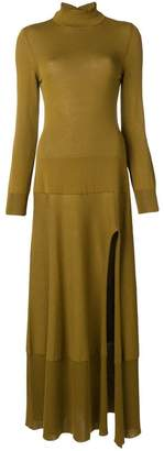 Jacquemus high neck side slit sweater dress
