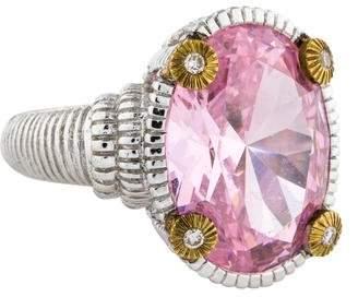 Judith Ripka Crystal & Diamond Loopty Loo Ring