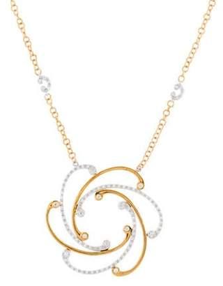 Charriol 18K Diamond Cignature Swirl Pendant Necklace yellow 18K Diamond Cignature Swirl Pendant Necklace
