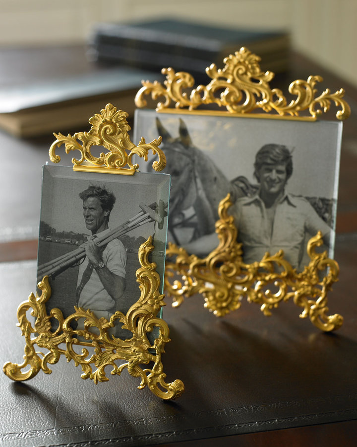 Horchow Small Brass Flourish Frame