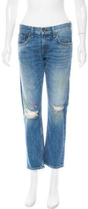 Rag & Bone Embroidered Mid-Rise Jeans w/ Tags
