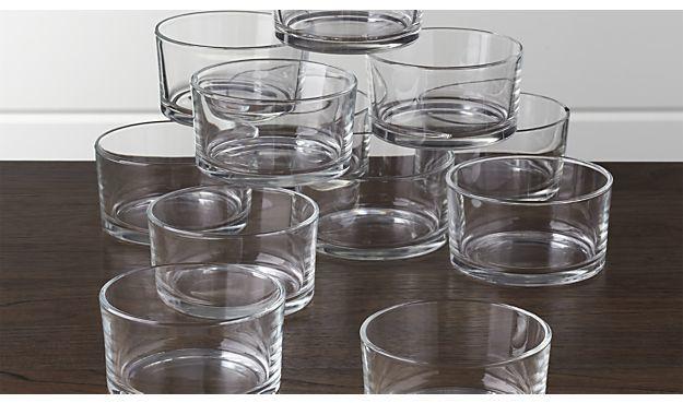 """Crate & Barrel Set of 12 Nosh 3.5"""" Bowls"""