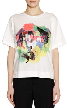 Marni Frank Naven Collab Short-Sleeve Crewneck Cotton Knit T-Shirt