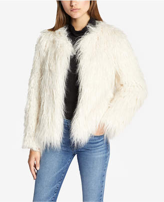 Sanctuary Studio Fifty Fur Cropped Faux-Fur Jacket