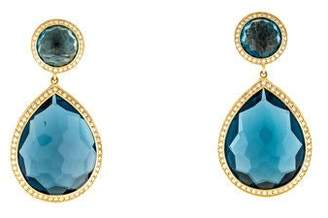 Ippolita 18K Topaz & Diamond Lollipop Teardrop Earrings