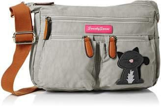 DAY Birger et Mikkelsen SwankySwans Norma Womens Ladies Multi Pocket Shoulder Bag Satchel Bag - Pale Grey