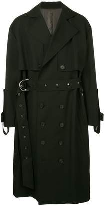 Wooyoungmi long flared trenchcoat