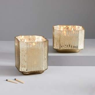 west elm Deco Mercury Candles - Cedarwood + Moss