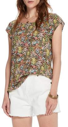 Scotch & Soda Tropical Print Top