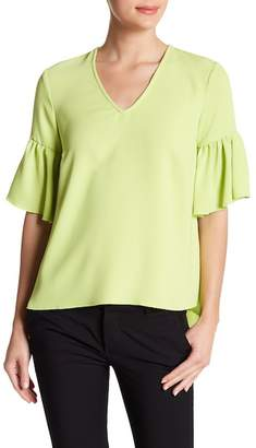 Catherine Malandrino Ruffled Cuff V-Neck Blouse