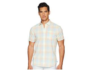 Original Penguin Short Sleeve Stretch P55 Medium Plaid Men's T Shirt