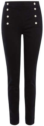 Karen Millen High-Waisted Button Legging