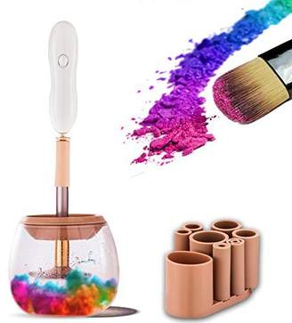 Eklead Makeup Brush Cleaner - Automatic Make Up Brushes Cleaner and Dryer MachineWash & Dries Electric Makeup Brushes Cleaner Kits Spinner in Seconds in 360 Rotation with 8 Rubber Collars