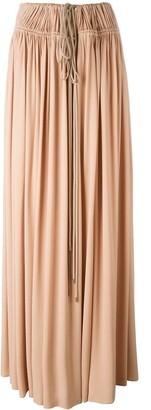 Lanvin drawstring maxi skirt