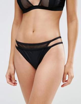 Evil Twin Black Mesh Double Bikini Bottom