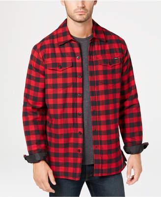 Dickies Men Fleece-Lined Plaid Flannel Shirt Jacket