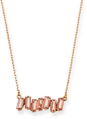 Suzanne Kalan KALAN by 14k Rose Gold Morganite Topaz Fireworks Necklace