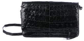 Nancy Gonzalez Crocodile Clutch Flap Crossbody Bag