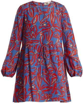 Diane von Furstenberg Drawstring-waist silk crepe de Chine dress
