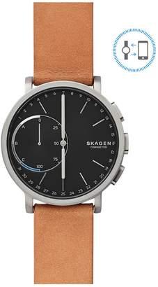 Skagen Hagen Connected Titanium and Leather Hybrid Smart Watch