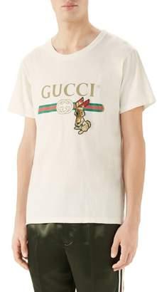 Gucci Vintage Logo Rabbit Applique T-Shirt