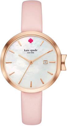Kate Spade Women's Park Row Pink Leather Strap Watch 34mm KSW1325