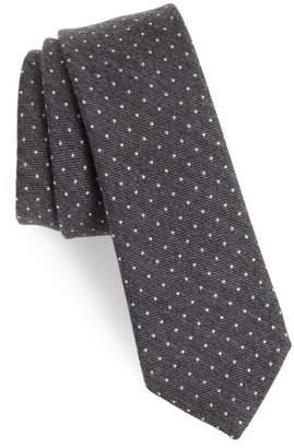 Paul Smith Pin Dot Wool & Silk Skinny Tie