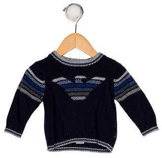Giorgio Armani Baby Boys' Long Sleeve Knit Sweater