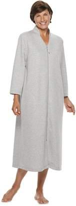 Croft & Barrow Women's Long Zip Lounge Robe