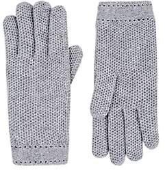 Barneys New York Women's Woven Cashmere Gloves - Gray