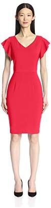 Society New York Women's Ruffle Sleeve Sheath Dress