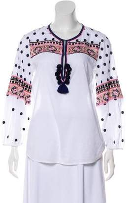 Figue Polka Dot Embroidered Top