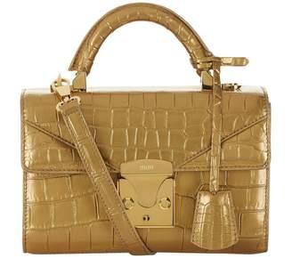 Stalvey 24k Gold Porosus Crocodile Top Handle Bag 2.0
