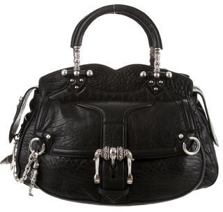 Alexander McQueen Alexander McQueen Pebbled Leather Handle Bag