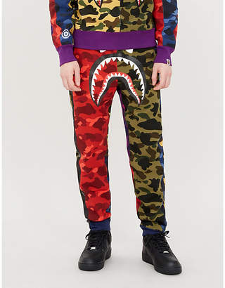 a574ac24abff A Bathing Ape Colour-blocked camouflage-print cotton-jersey jogging bottoms
