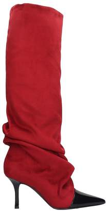 Marc Ellis Boots In Red Suede