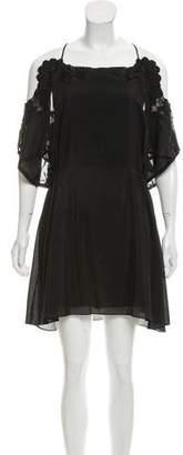 Thakoon Crochet-Trimmed Mini Dress